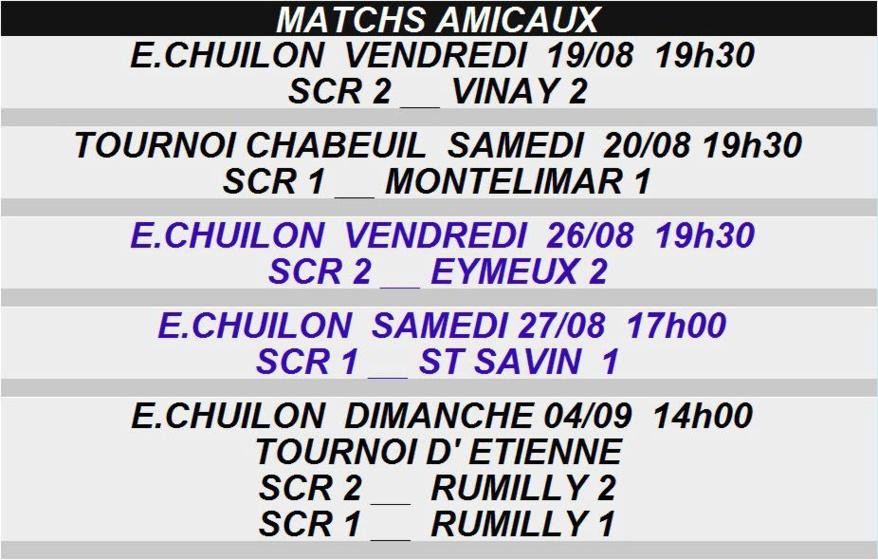 Match Amicaux