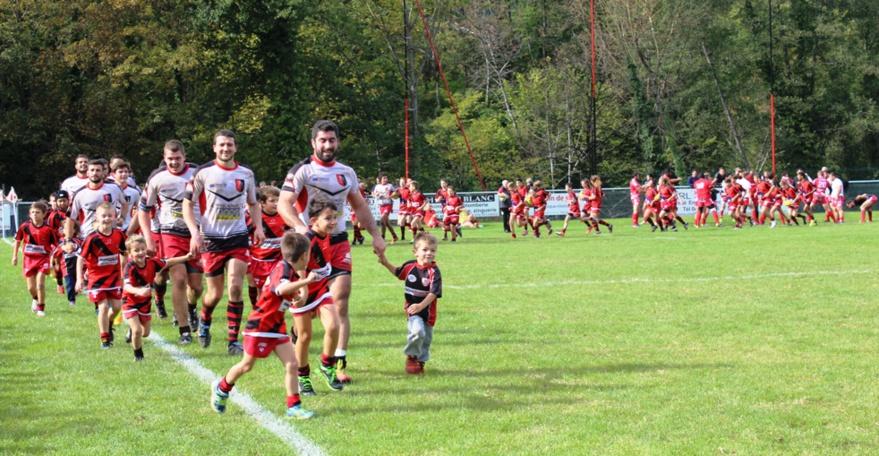 L'école de rugby en démonstration