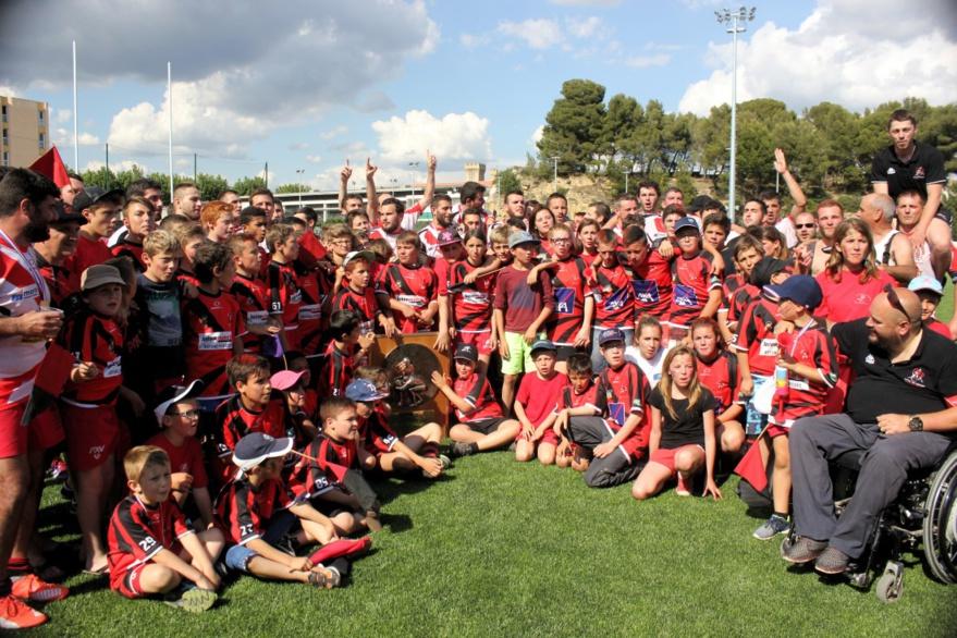 L'école de rugby avec le Bouclier