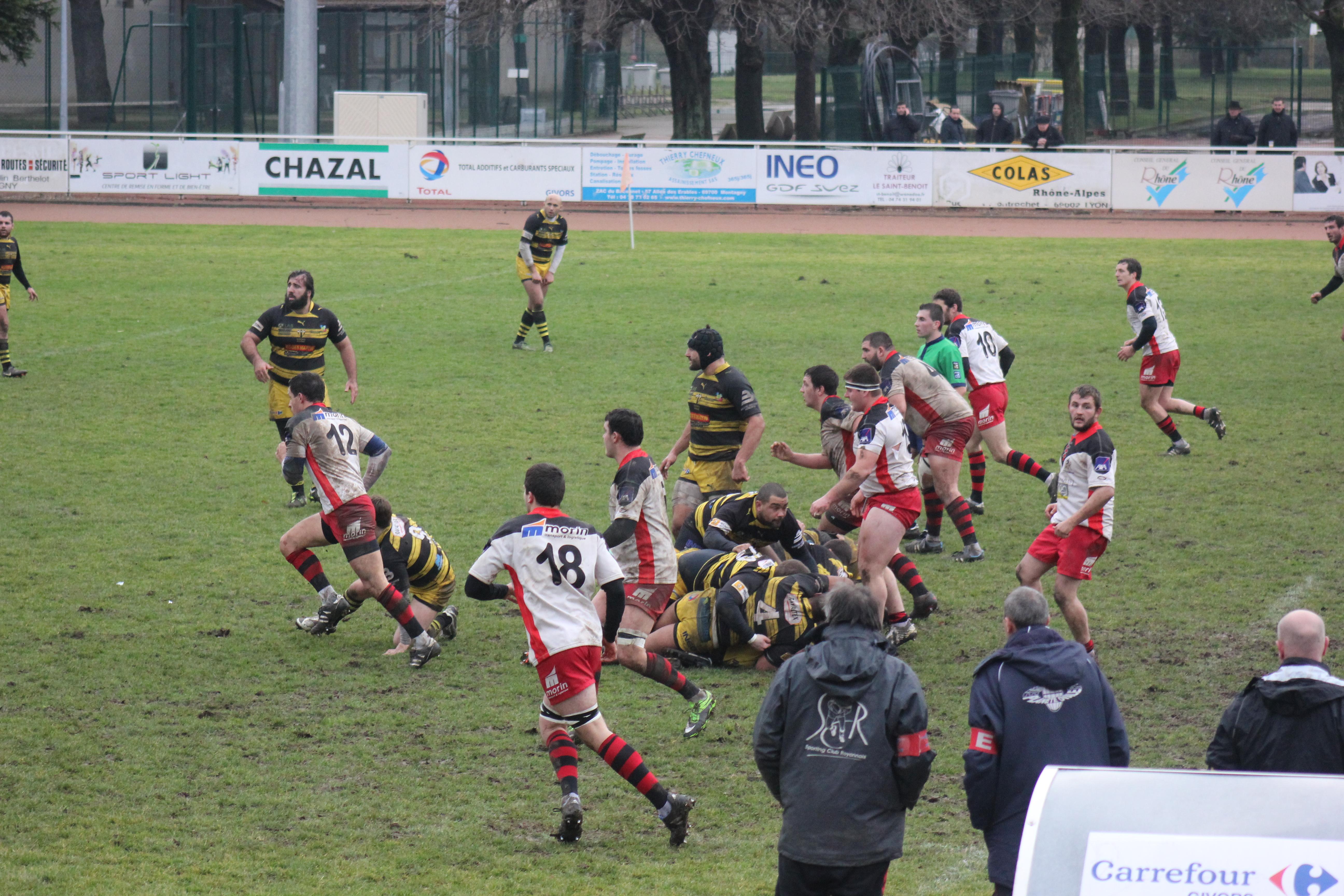 Rugby fédérale 2 avant SCR- AS Bédarrides
