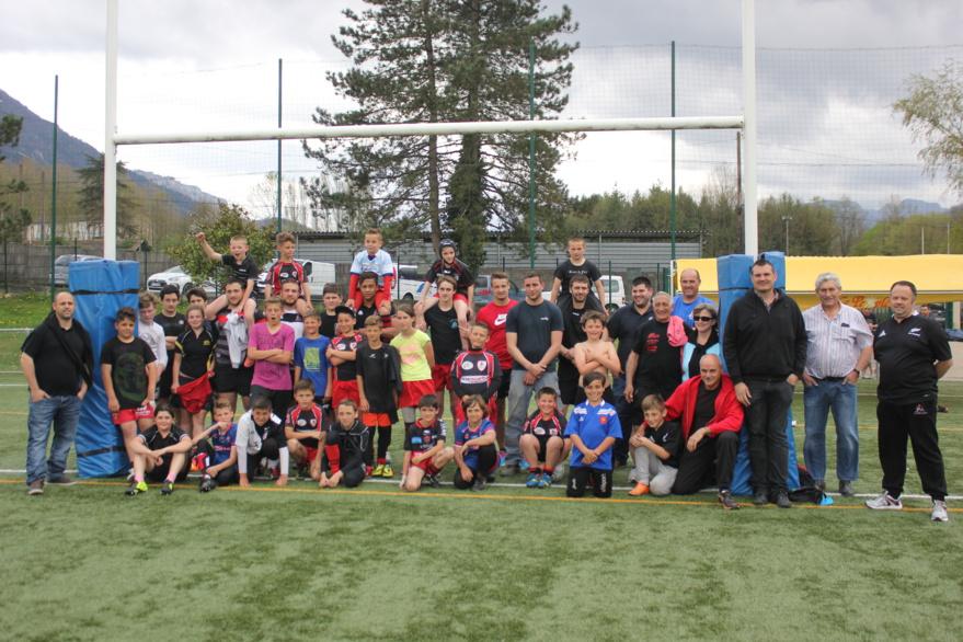 Ecole de rugby stage avec les seniors