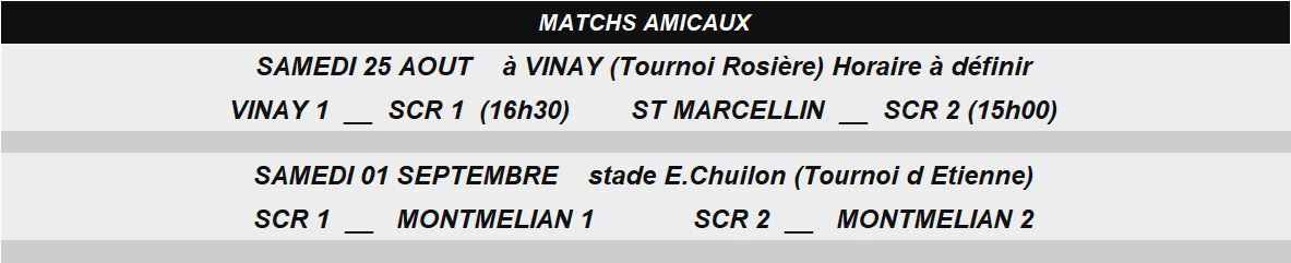 Matchs Amicaux