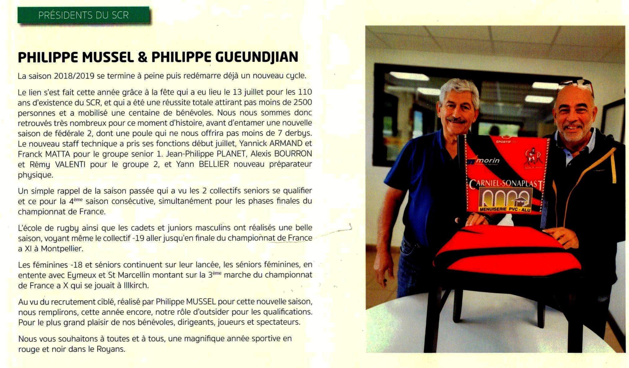 P.Mussel / P.Gueundjian