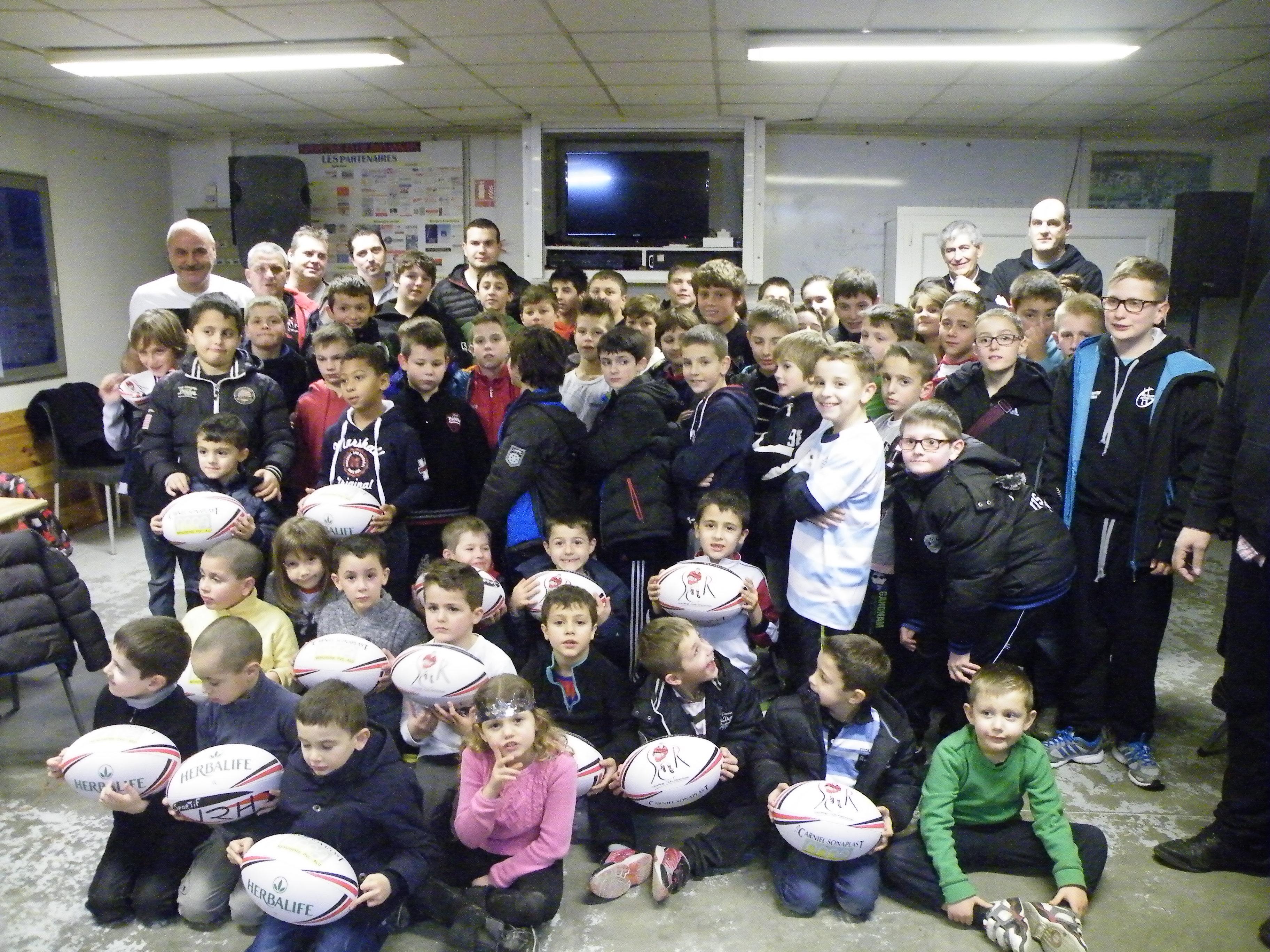 Galette à l' école de rugby